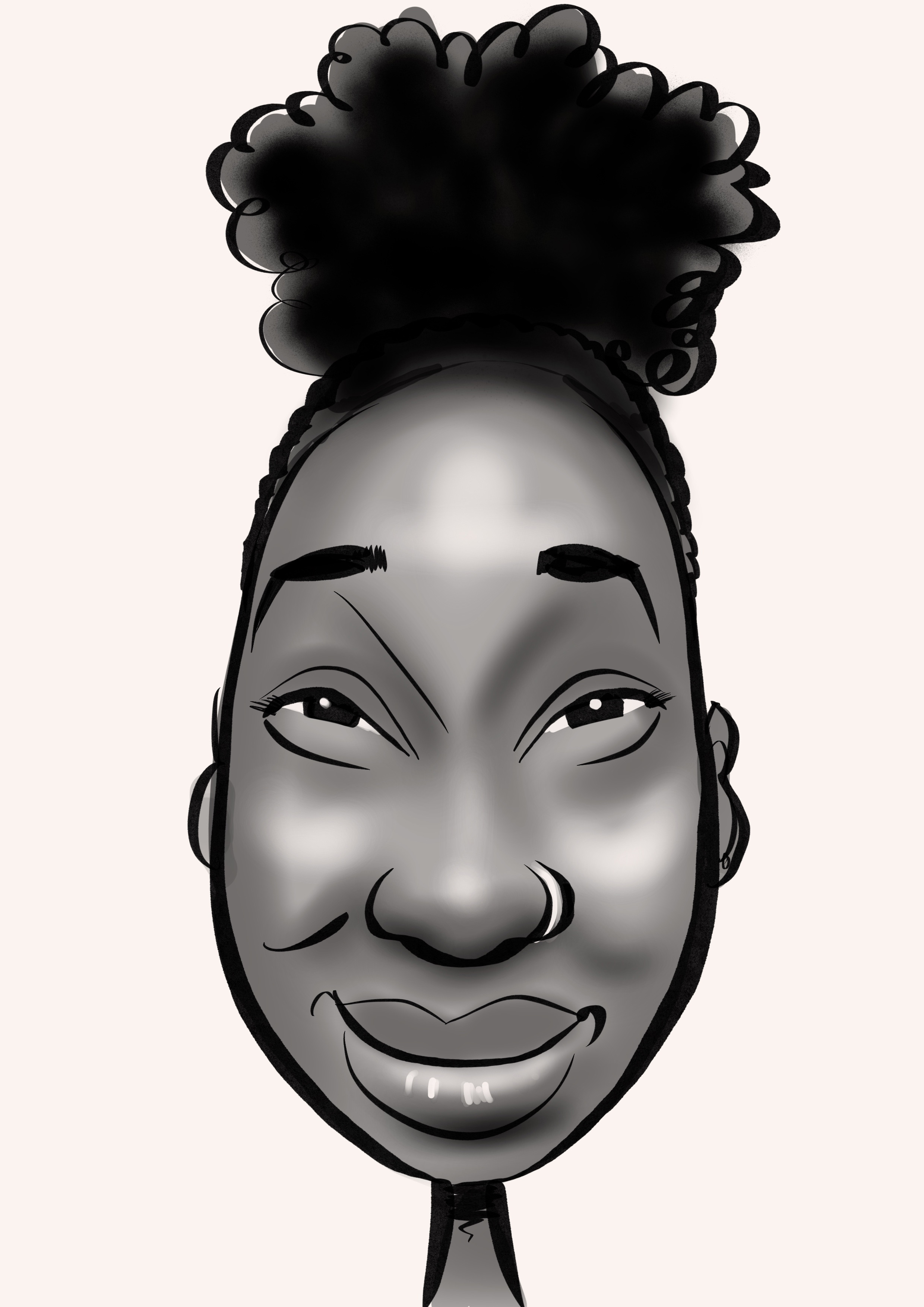 Caricature of The Pole Hub instructor Chaniqua B-B